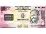 Indijoje milžiniško populiarumo sulaukė nulio rupijų banknotas