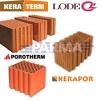 Keraminiai blokeliai Lode Keraterm,          Porotherm,          Kera